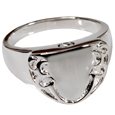 Pet Cremation Jewelry Men's Engravable Shield Ring