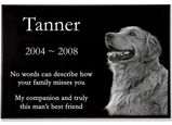Granite Photo Pet Grave Marker - 1
