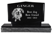 Pet Burial Photo Granite Marker-Diamond