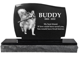 Pet Burial Photo Granite Marker- Legacy