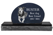 Pet Burial Photo Granite Marker- Oblong