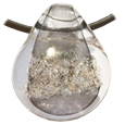 Pet Memory Glass Urn Pendant: Slate Gray