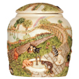 Cat Cremation Urn: Rainbow Bridge III Cats