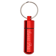 Red pet urn jewelry keepsake keychain shown engraved