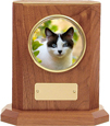 Pet Urn: Delano Series Urn shown with cat photo