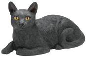 Sculpture Cat Urn: Black