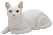 Sculpture Cat Urn: White