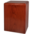 Simplicity Cherry Wood Pet Urn- Vertical