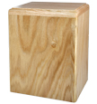 Simplicity Oak Wood Pet Urn- Vertical