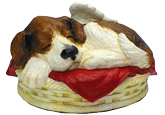 Sleeping Angel Dog Cremation Urn: Custom Painted