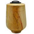 Wood XLarge-Sized Dog Urn: Box Elder with Ebonized Oak Lid