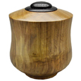 Wood XLarge-Sized Dog Urn: Tulip Poplar with Ebonized Oak Lid