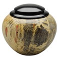 Wood Small-Sized Dog Urn: Box Elder with Ebonized Maple Lid