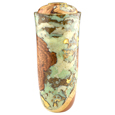 Wooden Pet Urns: Black Cherry Burl with Celadon & Gold