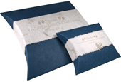 Pet  Journey Earthurn Navy with paw prints on our heart engraving