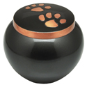 Pet Cremation Urns: Copper Puppy Pawprints