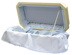 Pet Special: Double Wall Deluxe Pet Casket- Blue