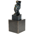 My Companion Pet Cat Sculpture Urn Keepsake with Pet Base Urn