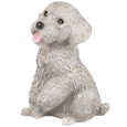 Figurine Dog Urns: Miniature Poodle Gray