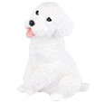 Figurine Dog Urns: Miniature Poodle White
