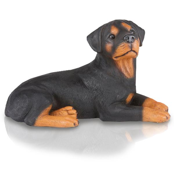 figurine dog urns rottweiler. Black Bedroom Furniture Sets. Home Design Ideas