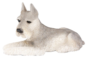 Figurine Dog Urns: Schnauzer, Ears Up, Gray