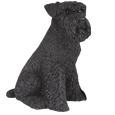 Figurine Dog Urns: Schnauzer, Ears Down, Black