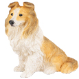 Figurine Dog Urns: Sheltie Tri-color