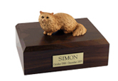 Cat Urns: Angora, Brown
