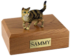 Cat Urns: Tabby, Brown, Shorthair - Standing