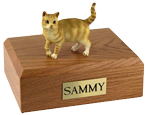 Cat Urns: Tabby, Red, Shorthair - Standing