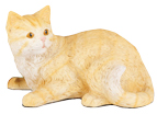 Figurine Cat Urns: Shorthair Cat, Striped Orange Tabby
