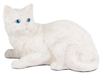 Figurine Cat Urns: Shorthair Cat, White