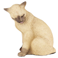Lifesize Figurine Cat Urns: Persian, Black