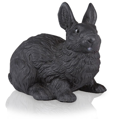 Figurine Black Rabbit Urn