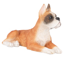 Figurine Dog Urns: Boxer, Ears Up, Fawn & White