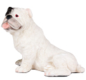 Figurine Dog Urns: Bulldog White