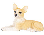 Figurine Dog Urns: Chihuahua, Shorthair, Fawn & White