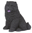 Figurine Dog Urns: Chow, Black