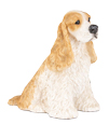 Figurine Dog Urns: Cocker Spaniel Tan & White