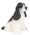 Figurine Dog Urns: Cocker Spaniel Black & White