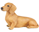 Figurine Dog Urns: Dachshund, Shorthair Red