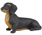 Figurine Dog Urns: Dachshund, Shorthair Black