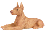 Figurine Dog Urns: Doberman Pinscher, Ears Up, Red