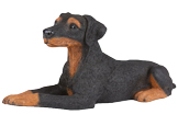 Figurine Dog Urns: Doberman Pinscher
