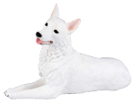 Figurine Dog Urns: German Shepherd White