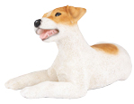 Figurine Dog Urns: Jack Russell Brown & White