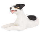 Figurine Dog Urns: Jack Russell Tricolor