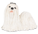 Figurine Dog Urns: Maltese