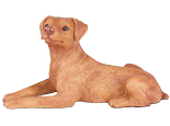 Figurine Dog Urns: Miniature Pinscher Ears Down Red
